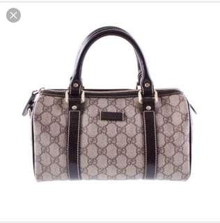Gucci Mini Boston Bag Authentic