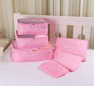 6in1 Luggage Organizer (Light Pink)