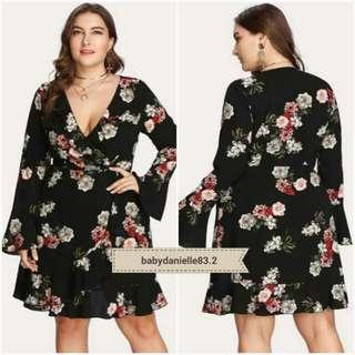 🌞Plus size floral dress