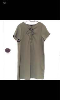 Army Green Shoelace Dress
