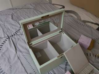 Crabtree & Evelyn Organiser Storage Box with Mirror