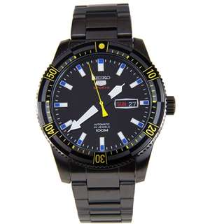 Seiko 5 Sports SRP737K1 Men Automatic Jam Tangan Pria SRP737 Full Black