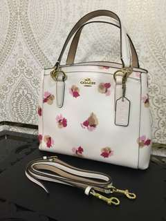 Coach Minetta Flora in White