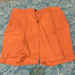 Uniqlo Orange 3/4 shorts from JAPAN