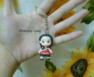 Personalized chibi keychain