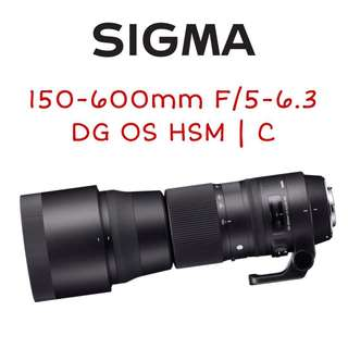 Sigma 150-600mm F/5-6.3 DG OS HSM | C