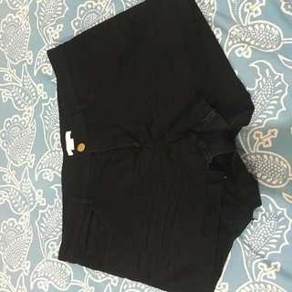 H&M Black Ulta Stretch shorts