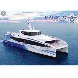 Cheap Majestic ferry ticket