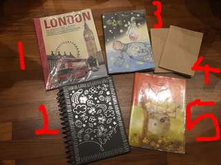 Assorted Notebooks for Sale!
