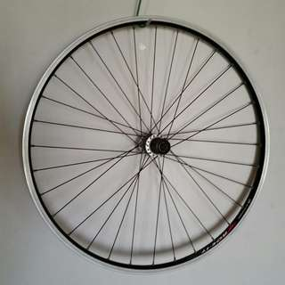 "26"" rear wheel with Alexrims ACE-17 rim and Shimano LX hub"