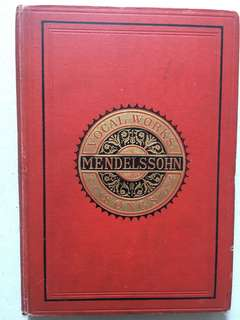 Vocal works Mendelssohn