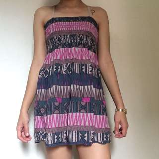 Aztec Print Summer Dress