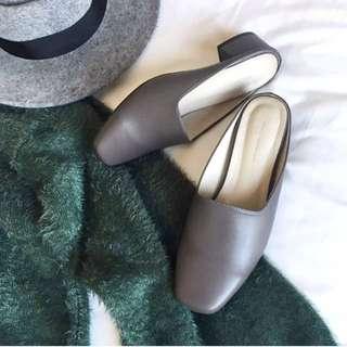 🚚 Mercci22 方頭中低跟穆勒鞋(官網預購款)