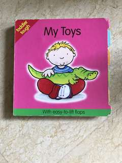 My Toys Board Book with easy to lift flaps