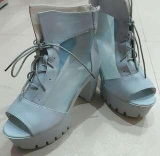 Heels Boots Sky Blue