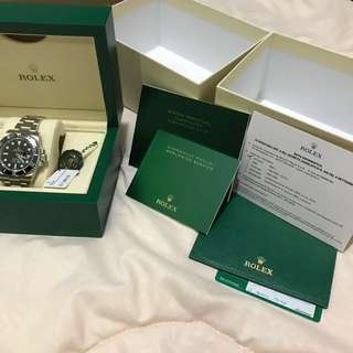 Rolex Submariner BNIB April 2018