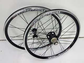 "WheelSport Sunny 20"" 451 100/130mm Black Wheel Set"