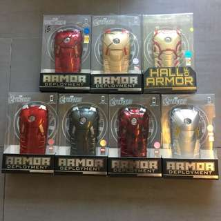 Ironman handphone covers collectible set of 7