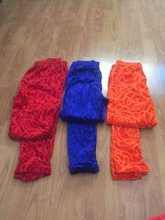 Velvet leggings all for $15