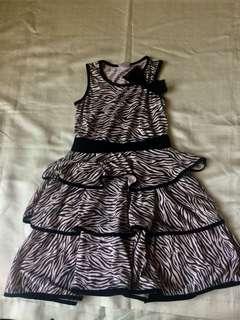 Zebra Ruffle Dress for Kids-Girls from Baby Fashionista