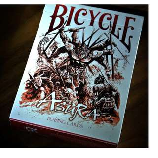 Bicycle Asura Red Playing Cards