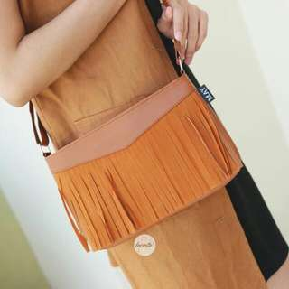 Fringebag brown