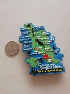 Pangkor map fridge magnet rm2.50 New