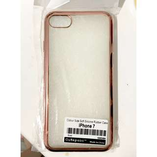 APPLE IPHONE 7 Gold soft rubber phone case