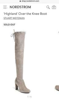 STUART WEITZMAN thigh high boots size 5