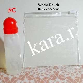 🔔Clear Zipper Pouch Bag #C 11cm X 10.5cm