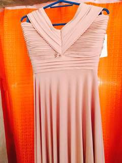 formal dress (pink nude)