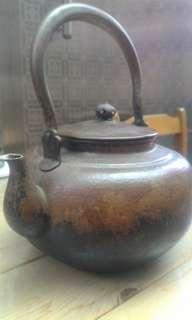 日本手工古銅壺