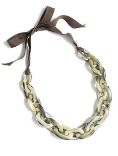 J CREW oval lucite chain link necklace