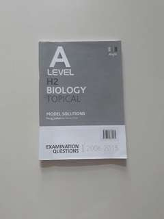 H2 A Level Biology Topical