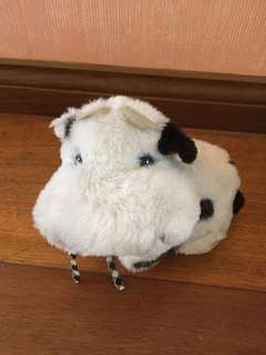 Small cow stuffed toy