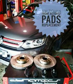 VW Tiguan : FrontRotors & Brake Pads replacements