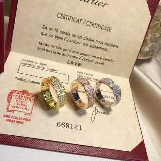 Love full diamond ring unisex