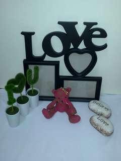 LOVE相架+Crabtree & Evelyn 熊仔+裝飾品