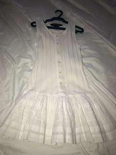 Ralph Lauren 4T White Rib knit Drop Waist Layered Lace