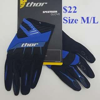 Gloves $22 (Motor Cycle/ MTB) with Touch screen compatible finger patch