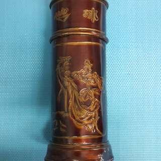 茶葉 罐 錫 茶罐 古 舊 茶 罐   W-70