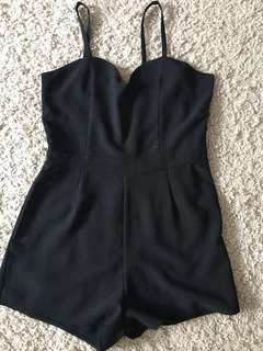 Valley Girl Black Playsuit