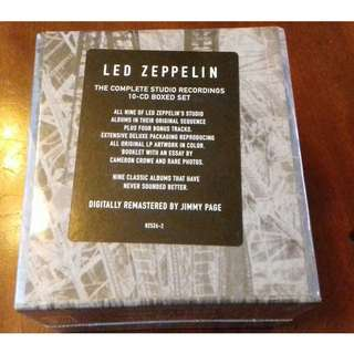 Led Zeppelin The Complete Studio Recordings 10 CD Box set sealed original USA pressing Jimmy Page