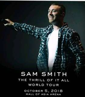 Sam Smith The Trill Of It All Gen Ad Manila Concert Tickets