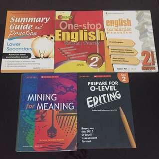 English assessment books Sec Two