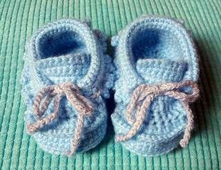 純手工編織 (藍色造型款鞋仔)