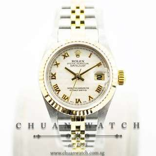 Pre-Owned Rolex Ladies' DateJust 26mm 79173 Ivory Pyramid Roman - Discontinued