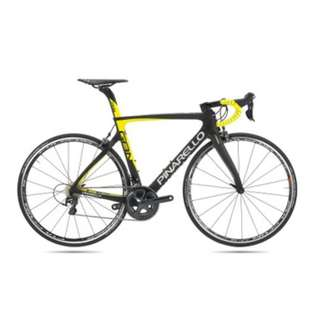 Pinarello Gan RS Black with Flou Yellow (40% off)