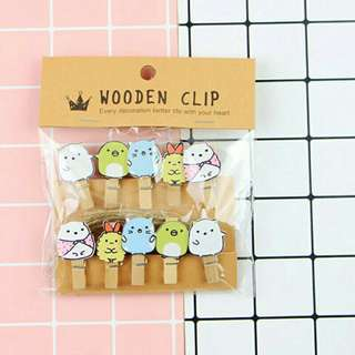 Wooden Clip Set