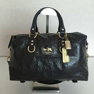 COACH 12957 MADISON SABRINA PATENT SATCHEL